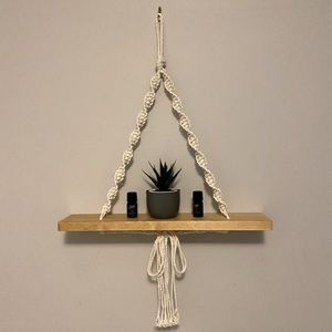 Handmade Macrame hanging shelf
